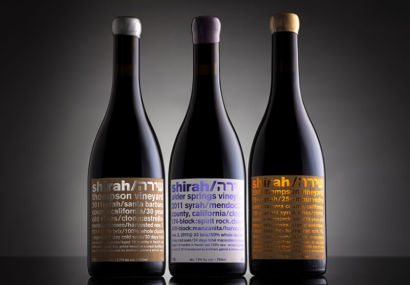 wine label designs with hot-stamping