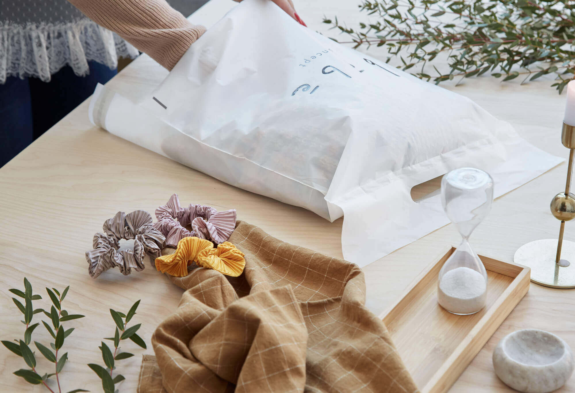 Poli sobres biodegradables para marcas de cosmética vegana