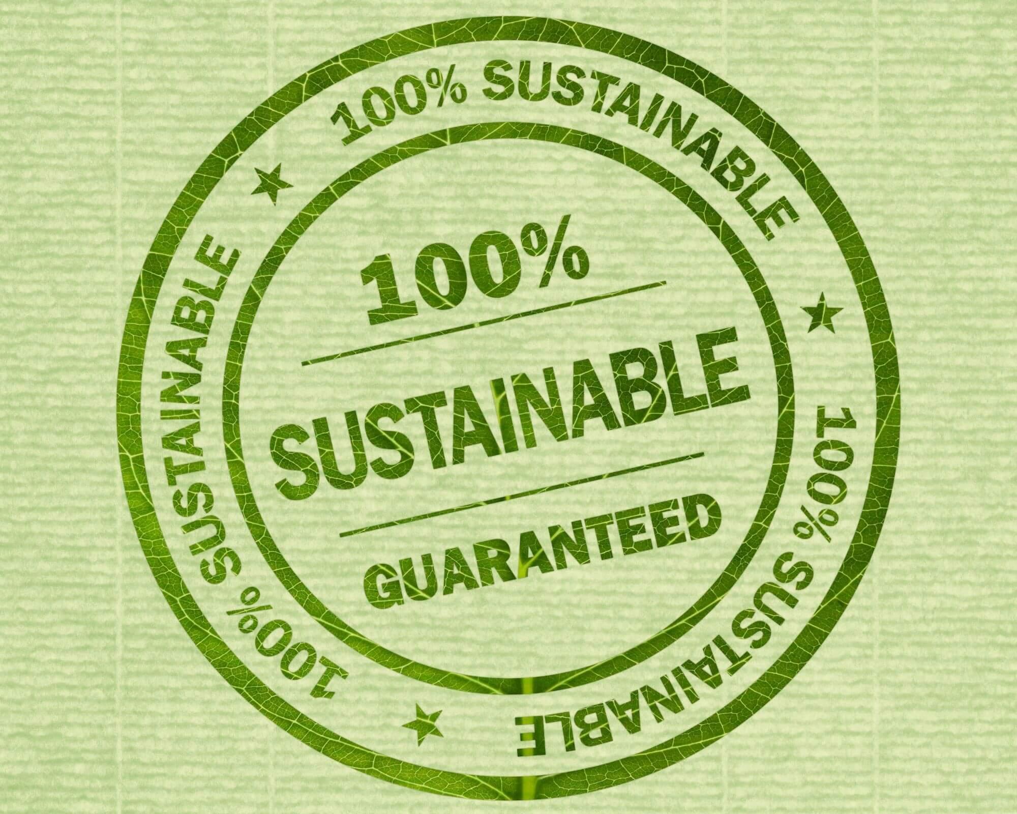 etiqueta sostenible