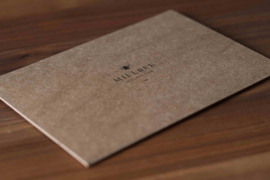 cardboard envelope by millbee studio