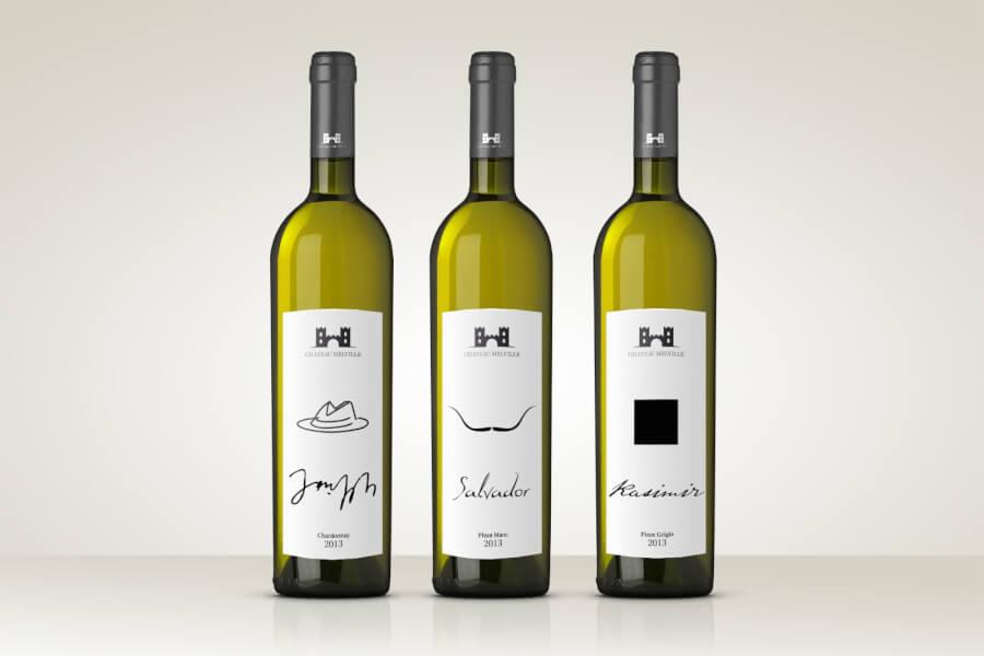 design de l'étiquette de vin original