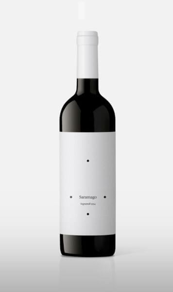 saramago design de l'étiquette de vin