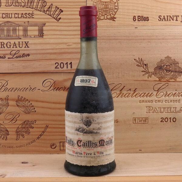 étiquette de vin Nuits St. Georges Cailles Morin