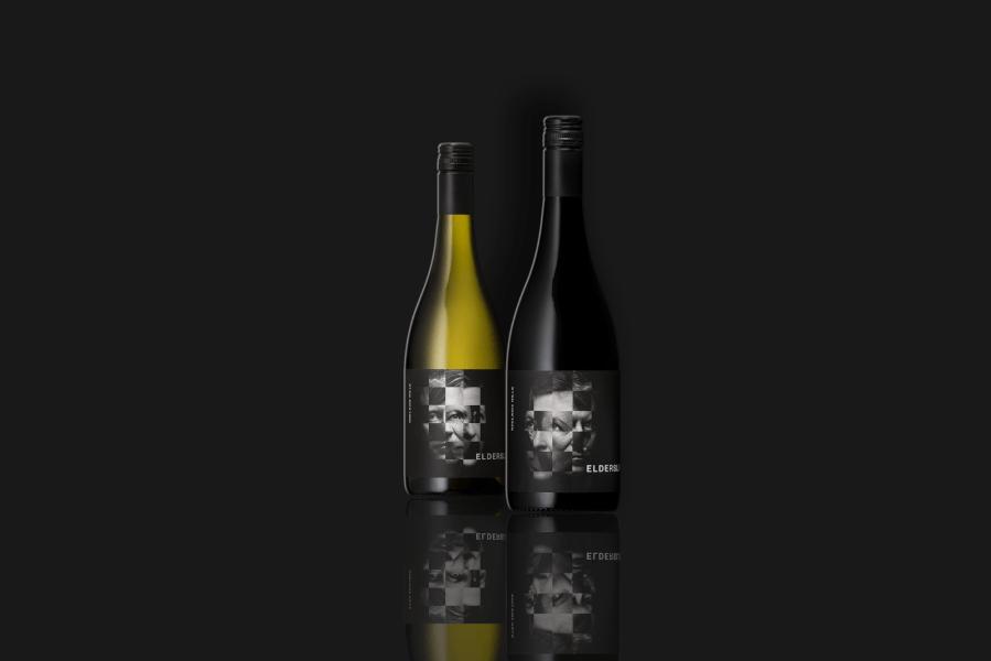 design de l'étiquette de vin elderslie hill