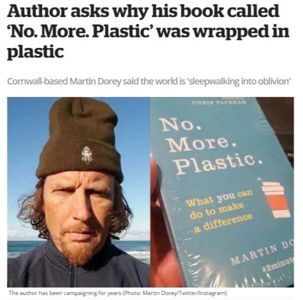 No plastic book