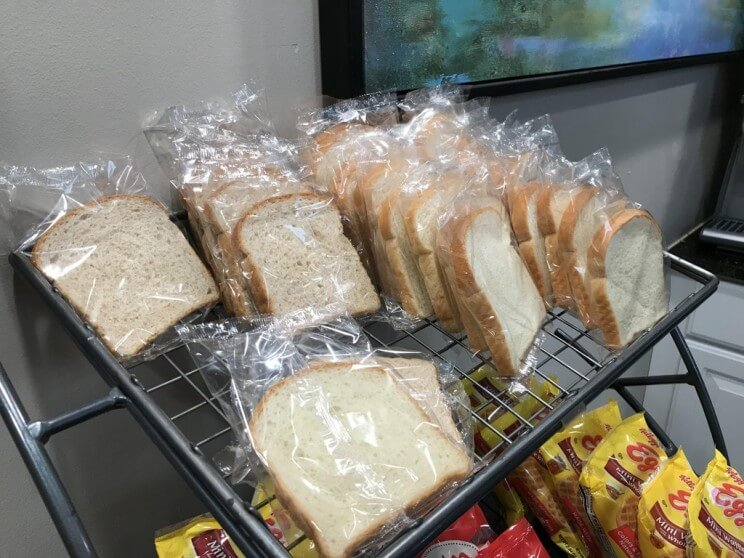 individually wrapped bread slices