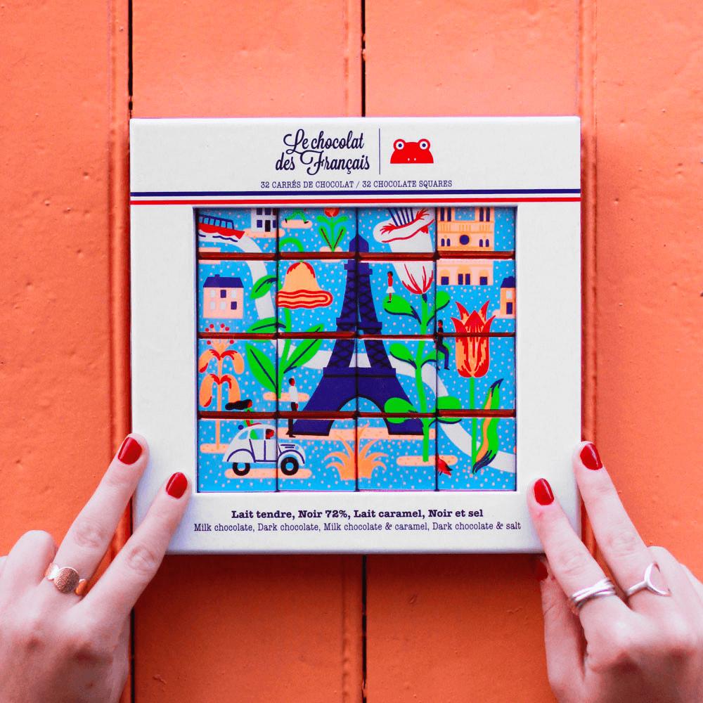 Coffret boîte carton pour chocolats de la marque Le Chocolat des Français