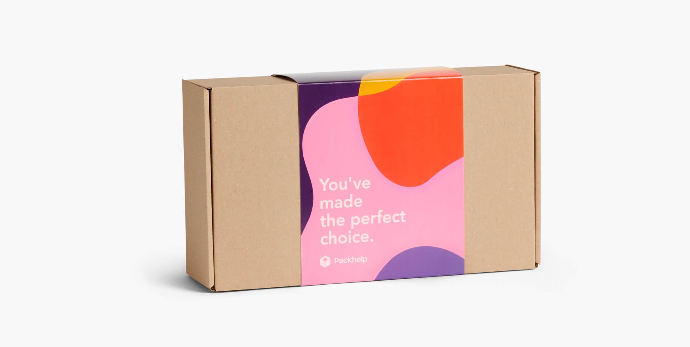 Versandschachteln mit Banderole - individuellen Verpackungen - Packhelp