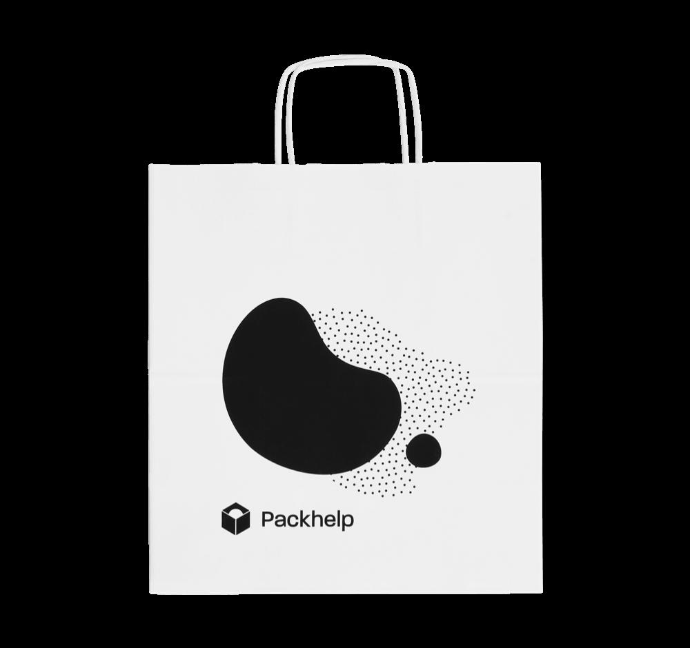 Papírové tašky s potiskem - vlastní návrh- Packhelp