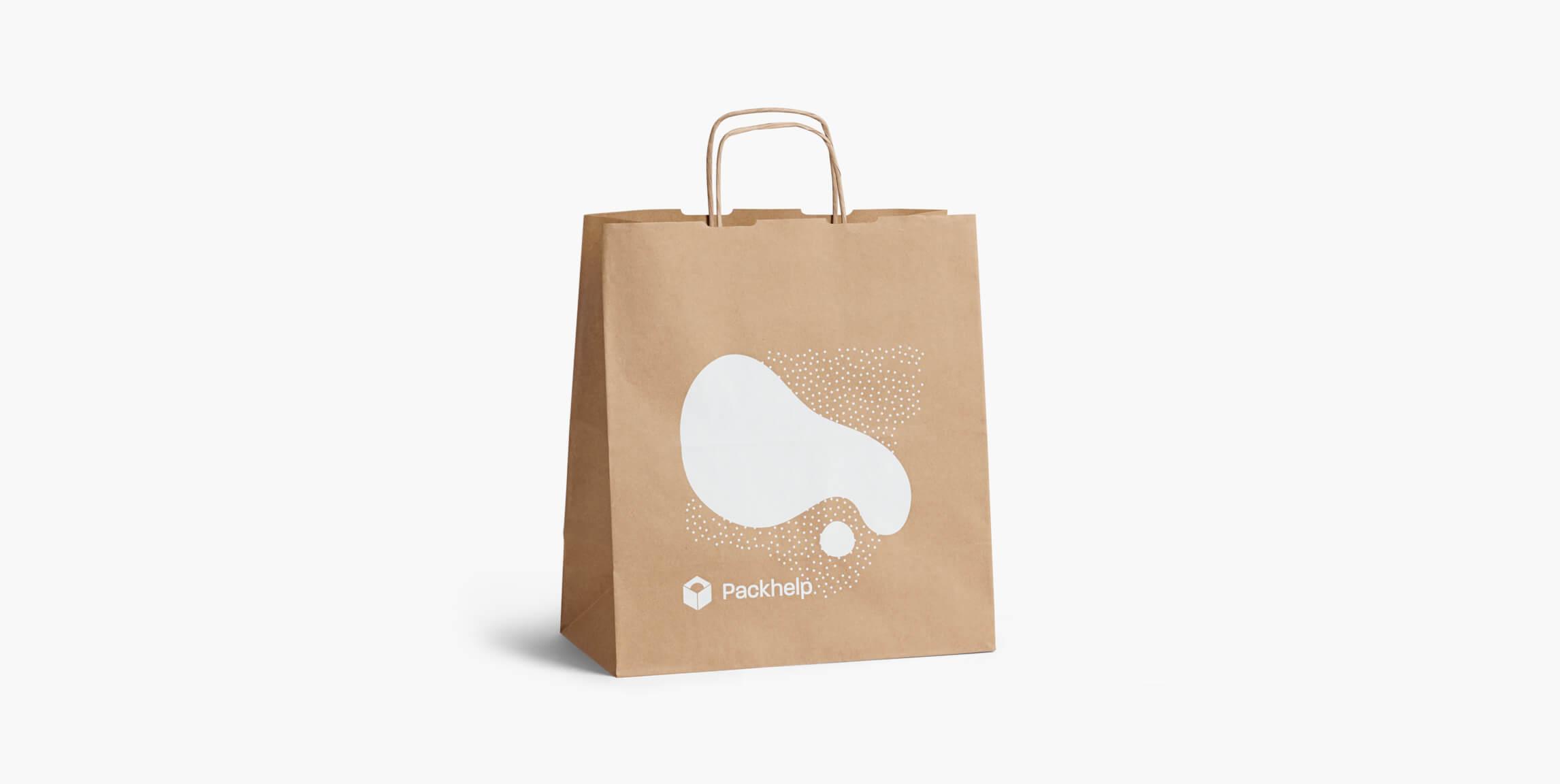 Sacchetti di carta con manico ritorto - scatole personalizzate - Packhelp