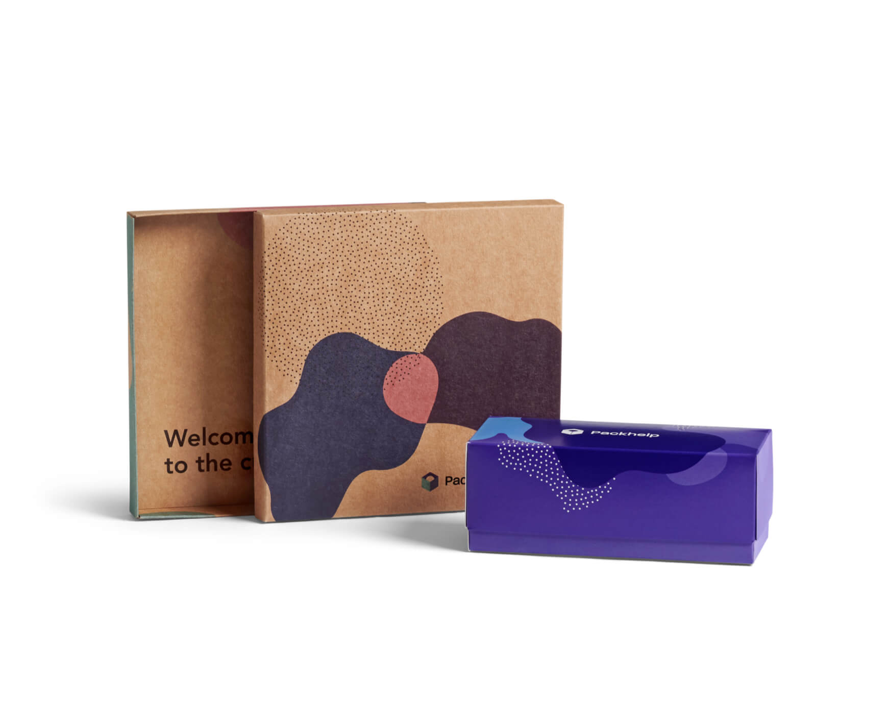 Custom Boxes with lid, printed Two-piece Product Boxes. Recyclable materials