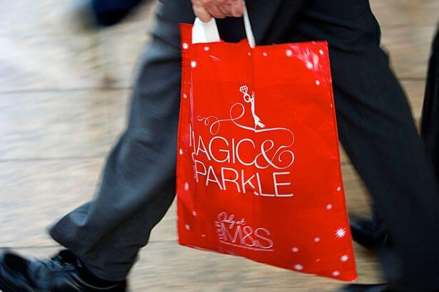 marks and spencer christmas plastic bag