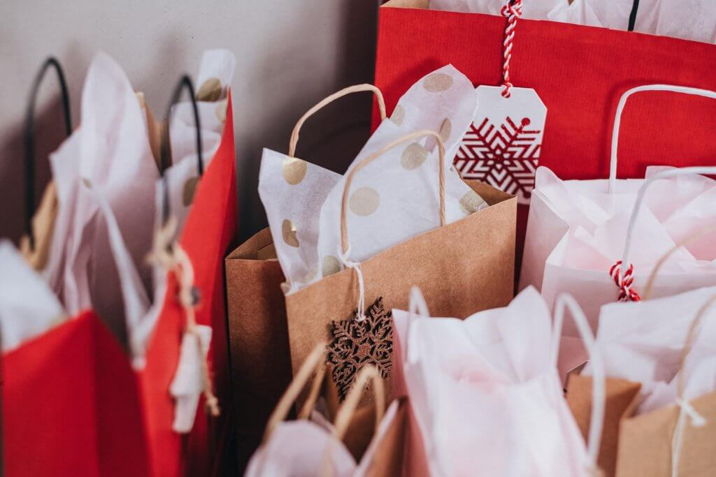 christmas paper bags