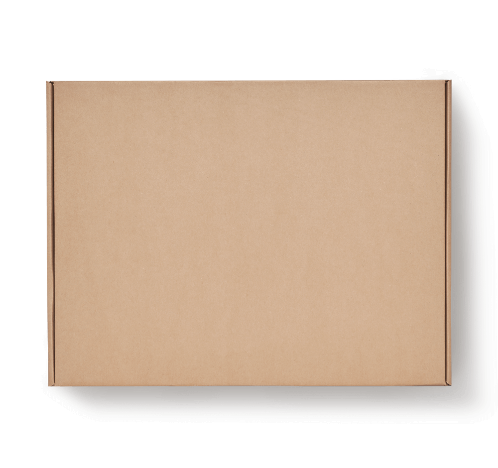 kraft delivery box with adhesive strips