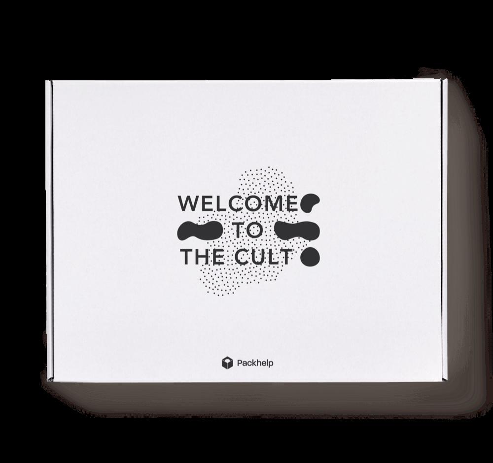 Bílá doručovací krabice pro e-shopy s potiskem