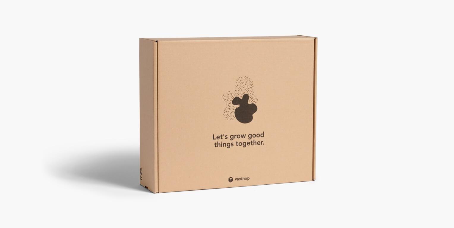 Přírodní doručovací krabice s potiskem