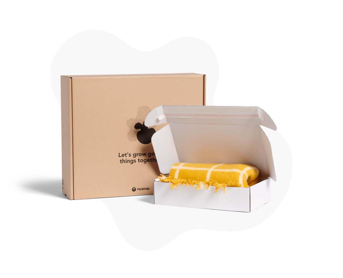 Boîtes postales en carton couleur blanche et kraft