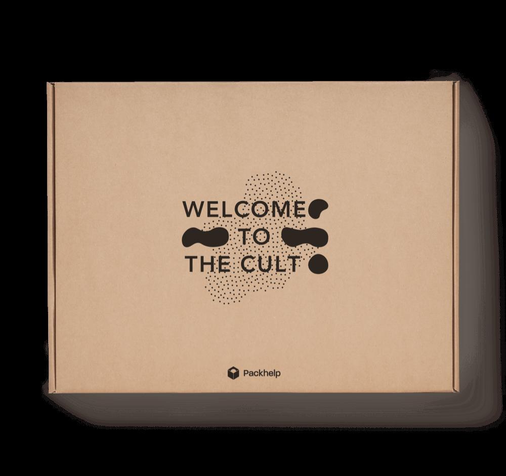 Boîte postale en carton en kraft naturel
