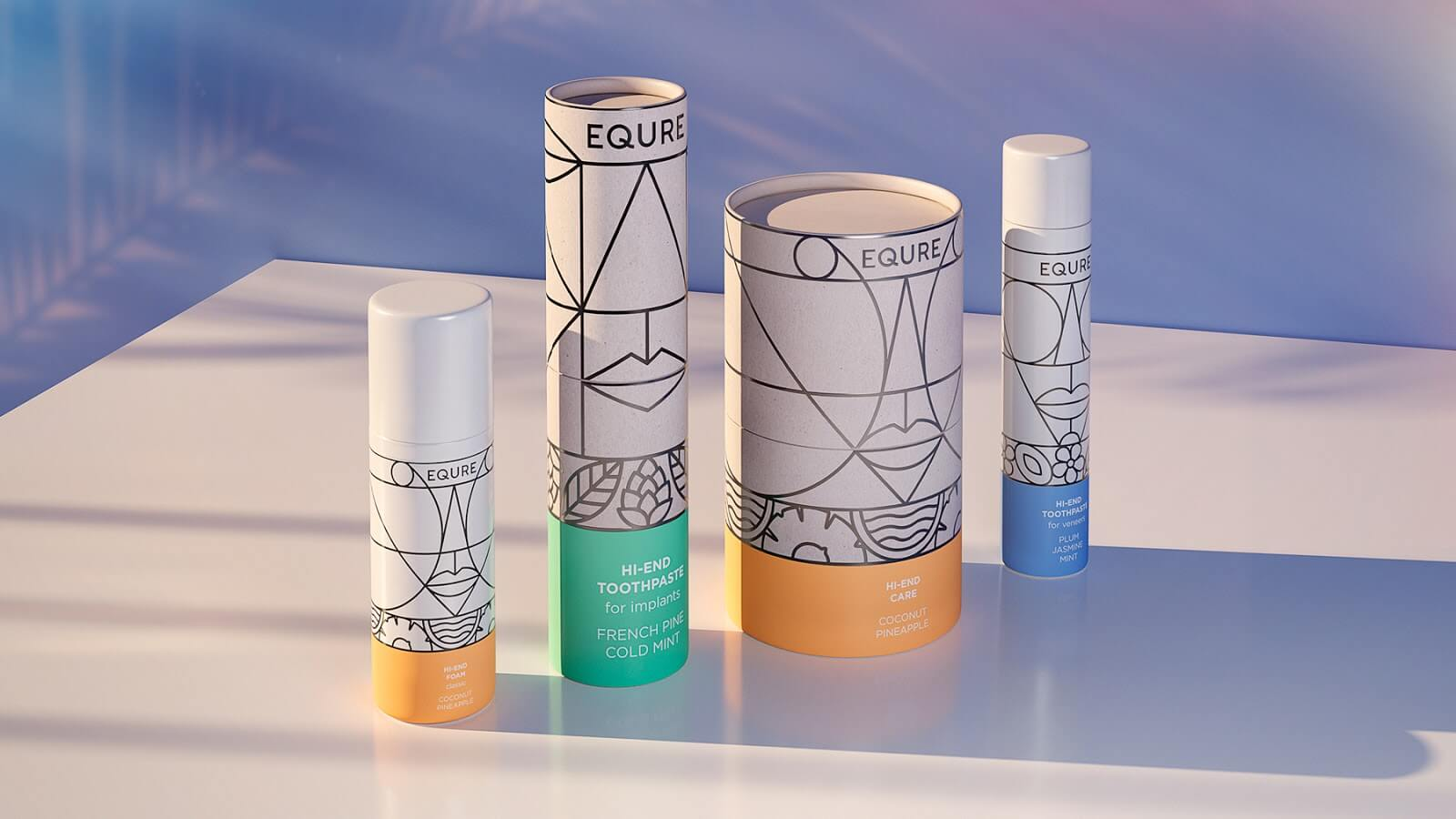 equre tube packaging