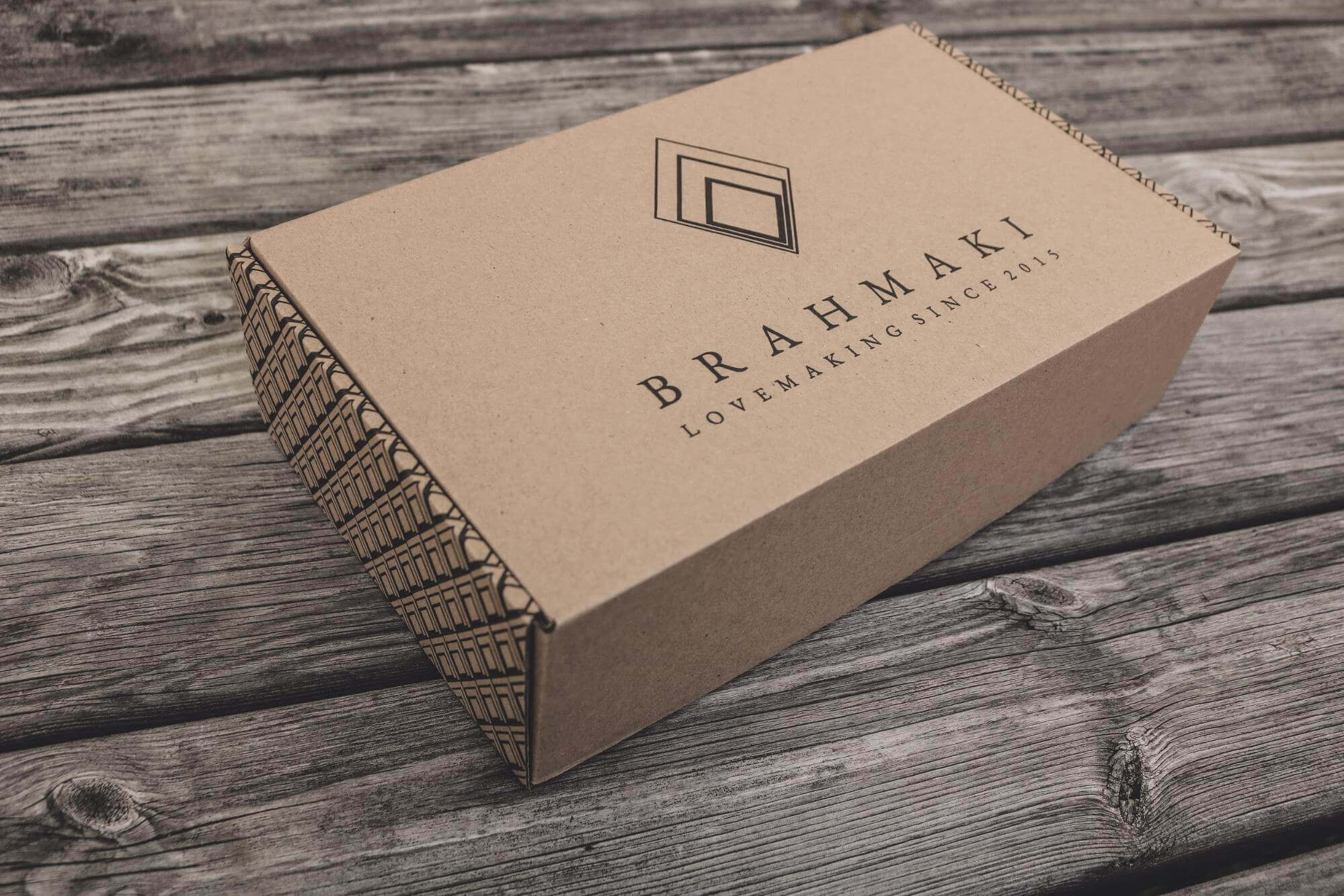 Boite en carton recyclé Brahmaki
