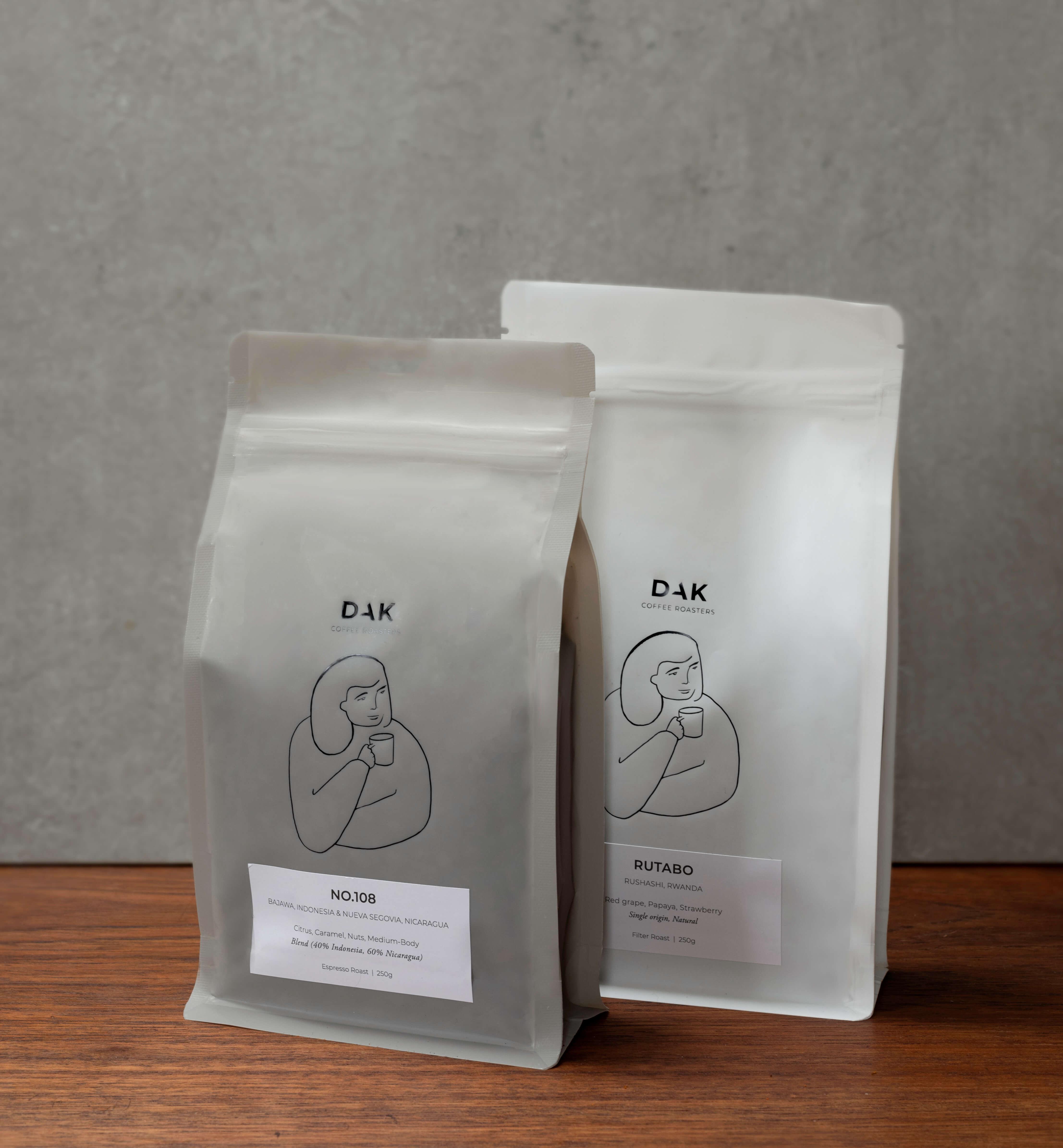 Dak Coffee Roasters Verpackung