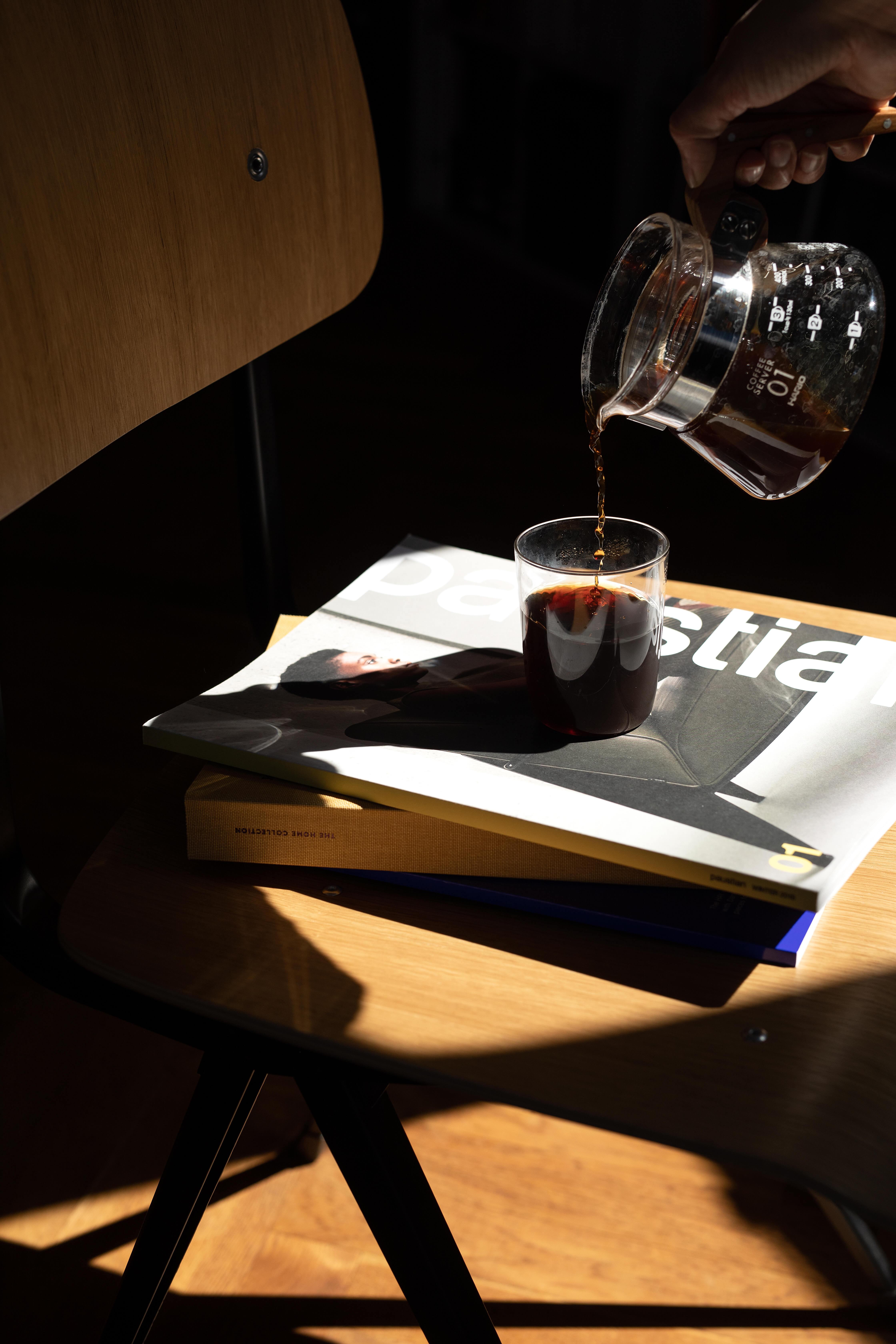 Kaffee Glas und Kanne