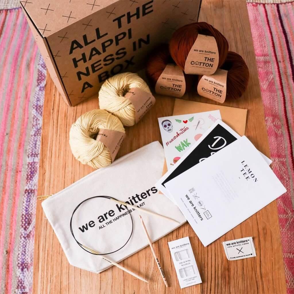 lepenková krabice pro pletací potřeby