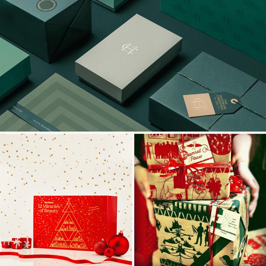tradicni vanocni barvy na krabicich na miru