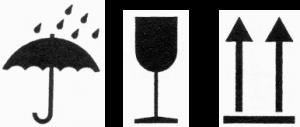 symbol na obalech deštník sklenička