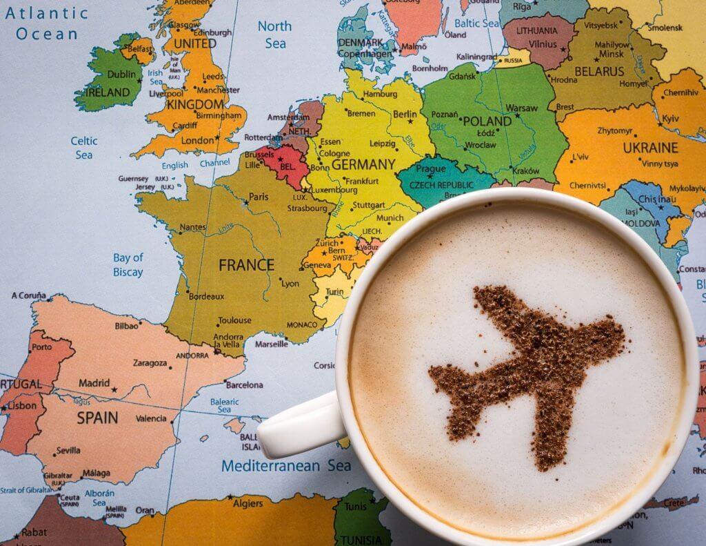 Mapa para analizar cómo enviar paquetes a Europa