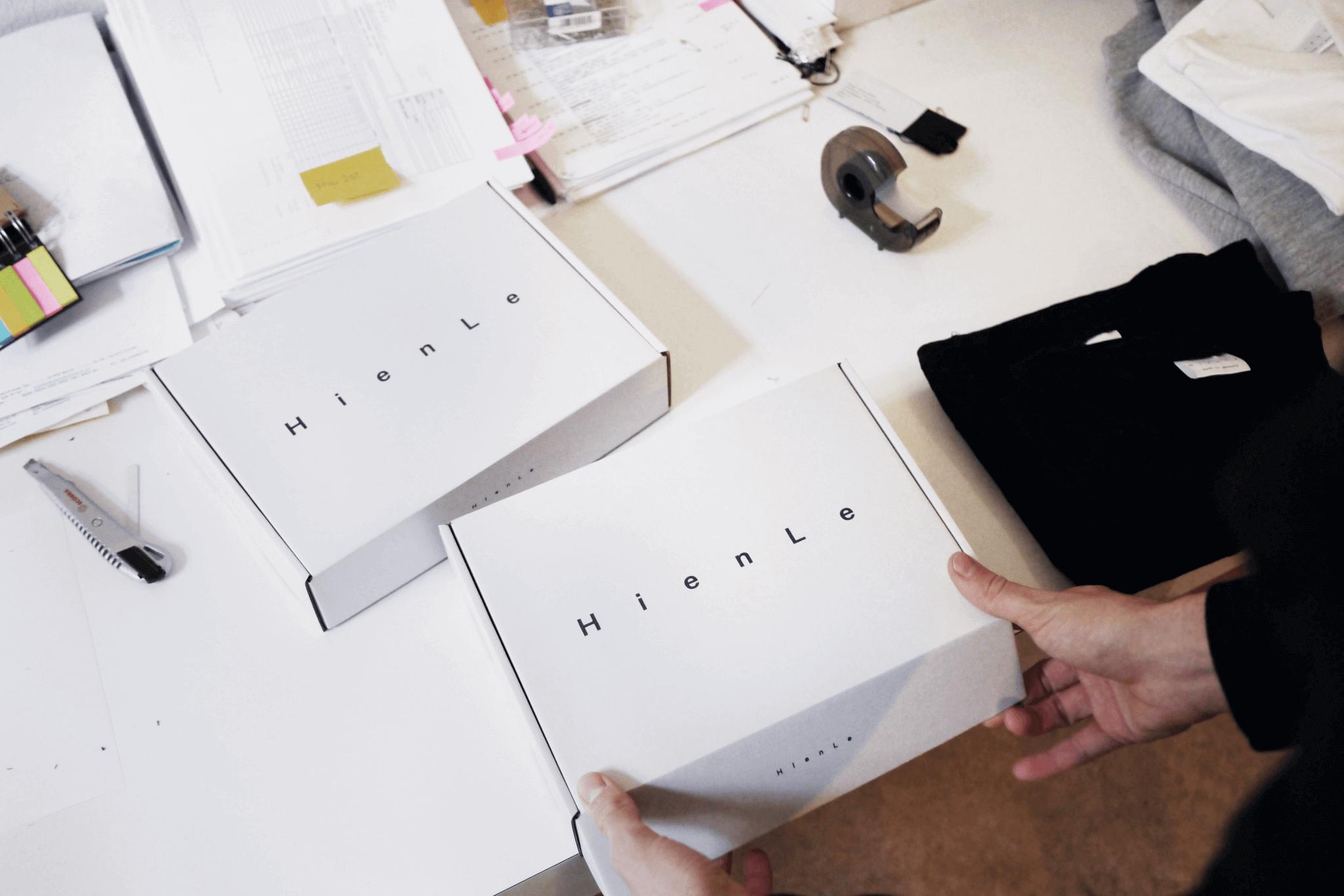 Hien Le ekologické bílé krabice