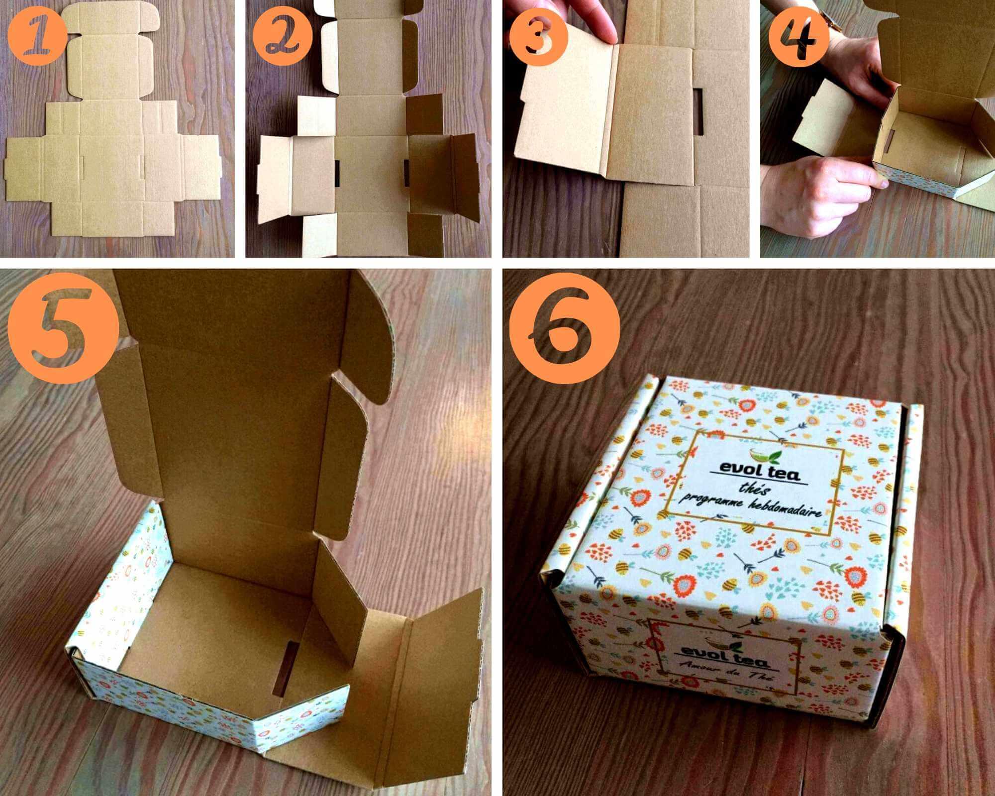 jak složit krabičky s potiskem