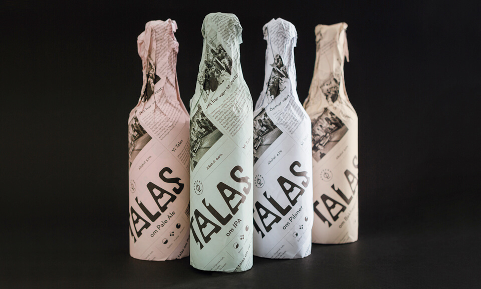 talas brewing beer packaging