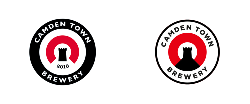 camden down brewing logo design