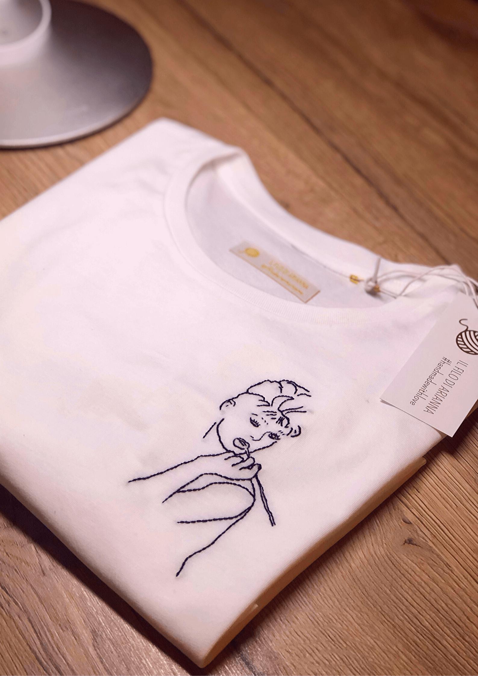 T-shirt Audrey Hepburn de Il filo di Arianna