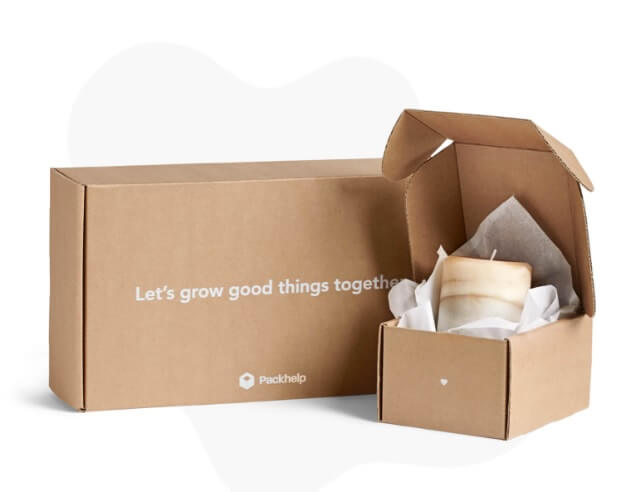 dos cajas de papel kraft de Packhelp