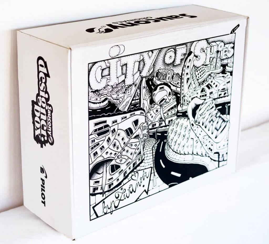 effects of work saucony designer box