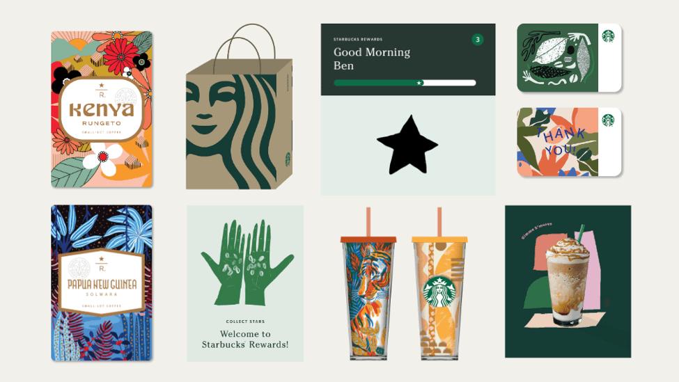 Nouveaux éléments graphiques de Starbucks