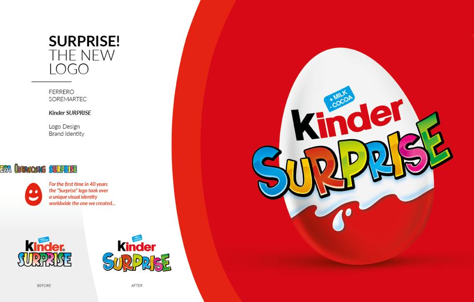 Nouveau logo de Kinder Suprise