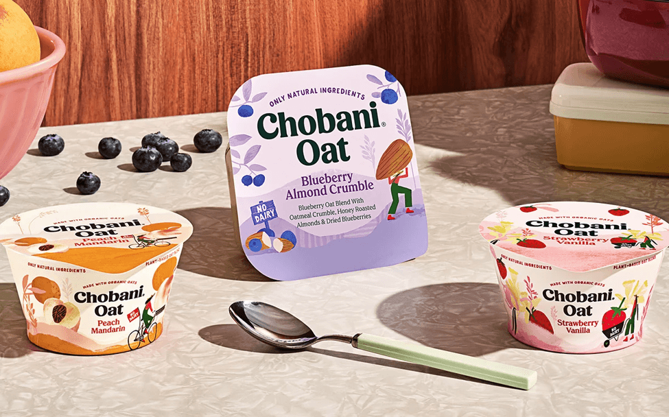 Packaging des yaourt Chobani