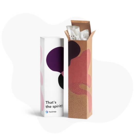 dos cajas de cartón para guardar botellas