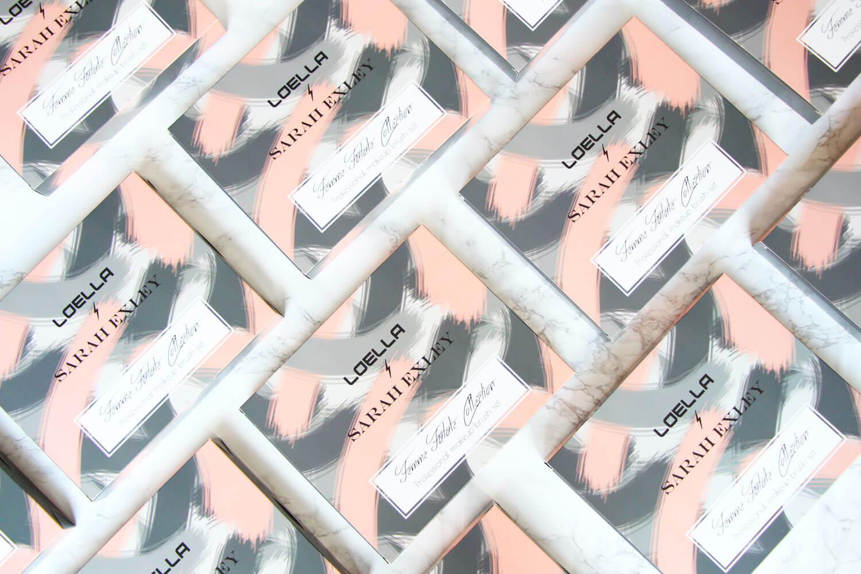 Scatole collezione Femme Fatale di Loella Cosmetics