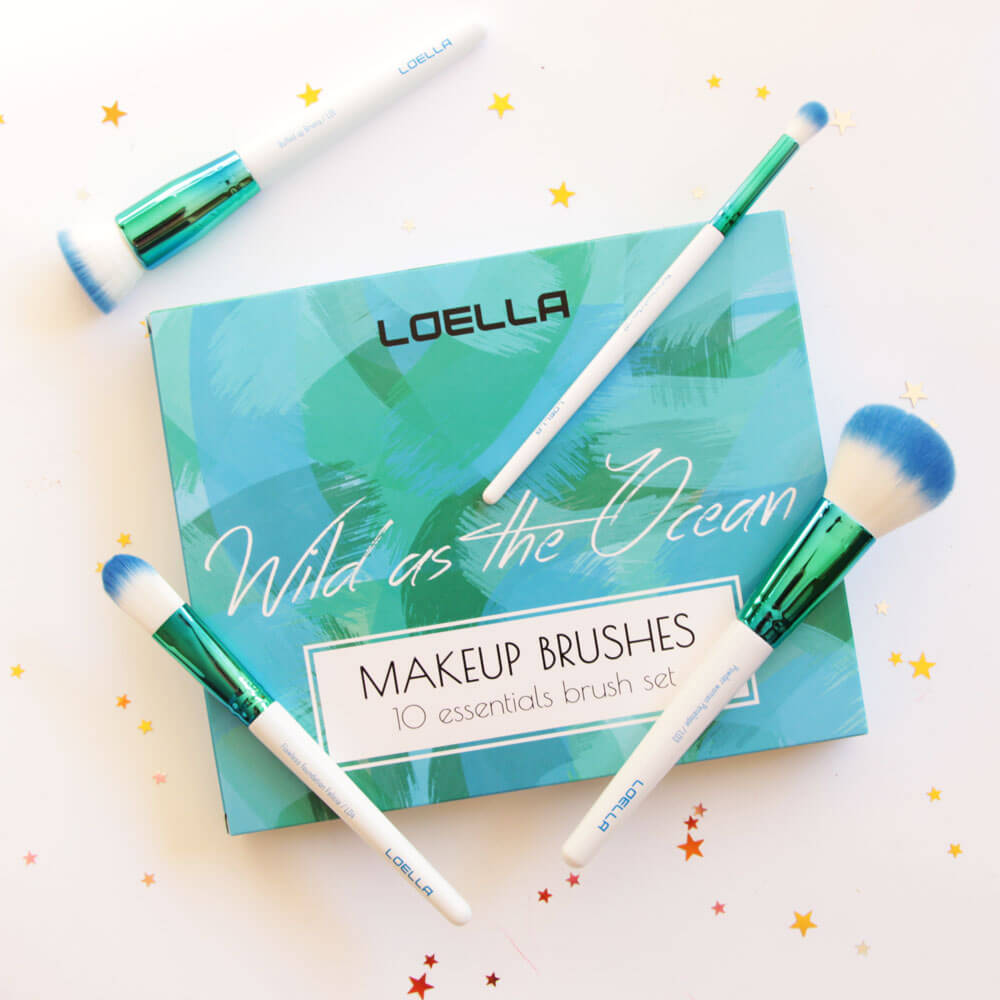 Set 4 pennelli Wild as The Ocean di Loella Cosmetics