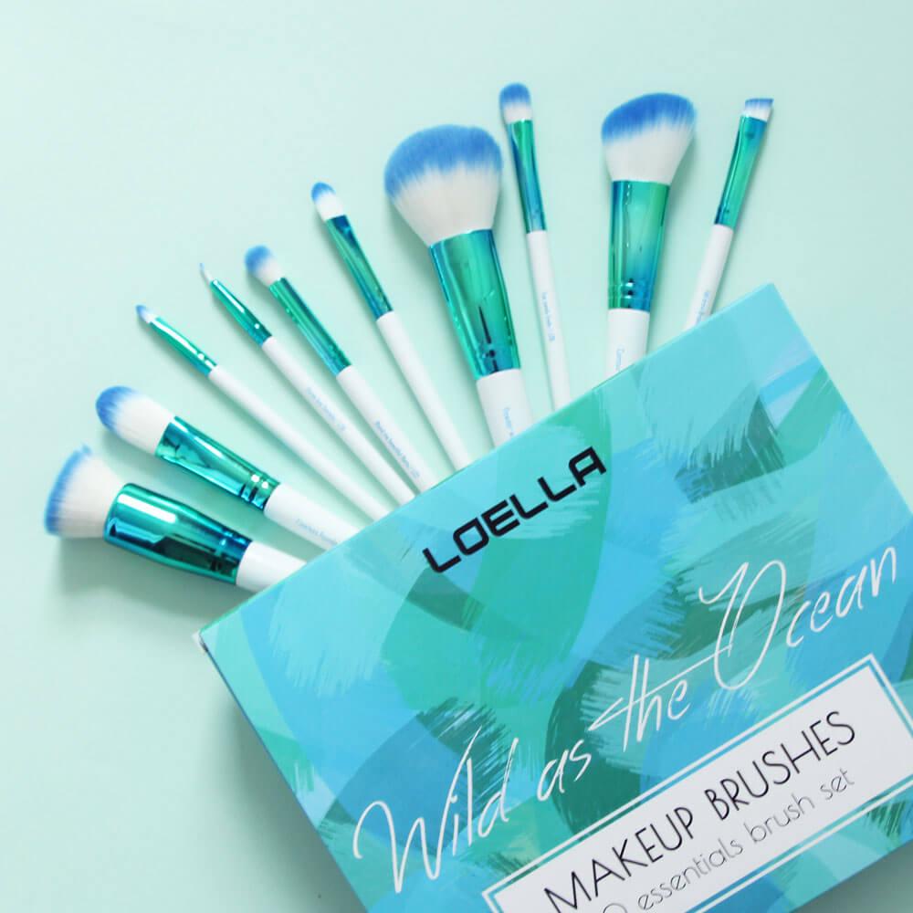 Loella Cosmetics Verpackung und Pinsel