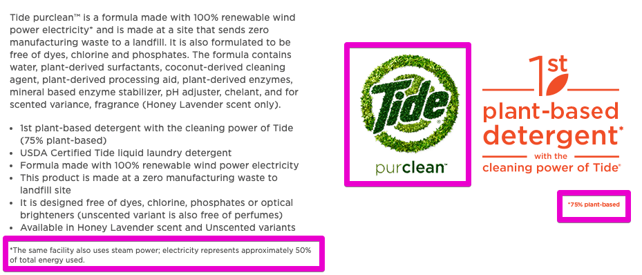 tide purclean eco claims