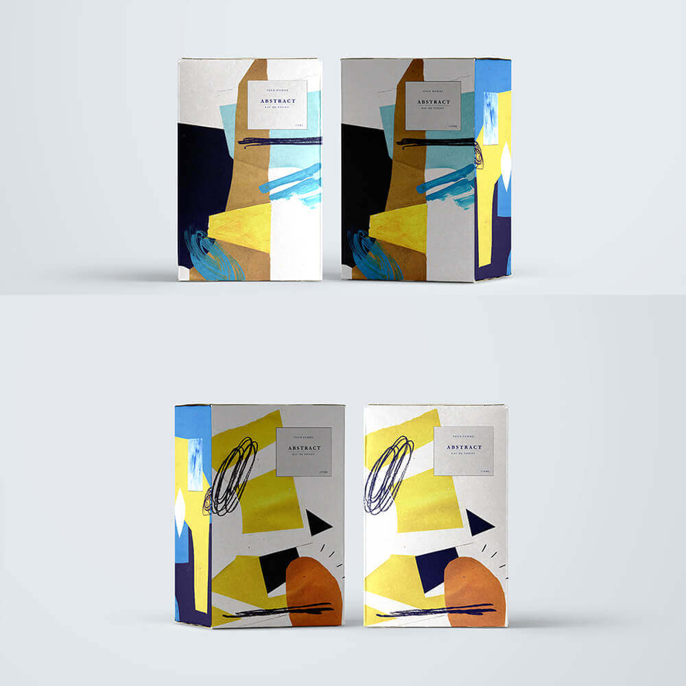 obaly s abstraktním vzorem