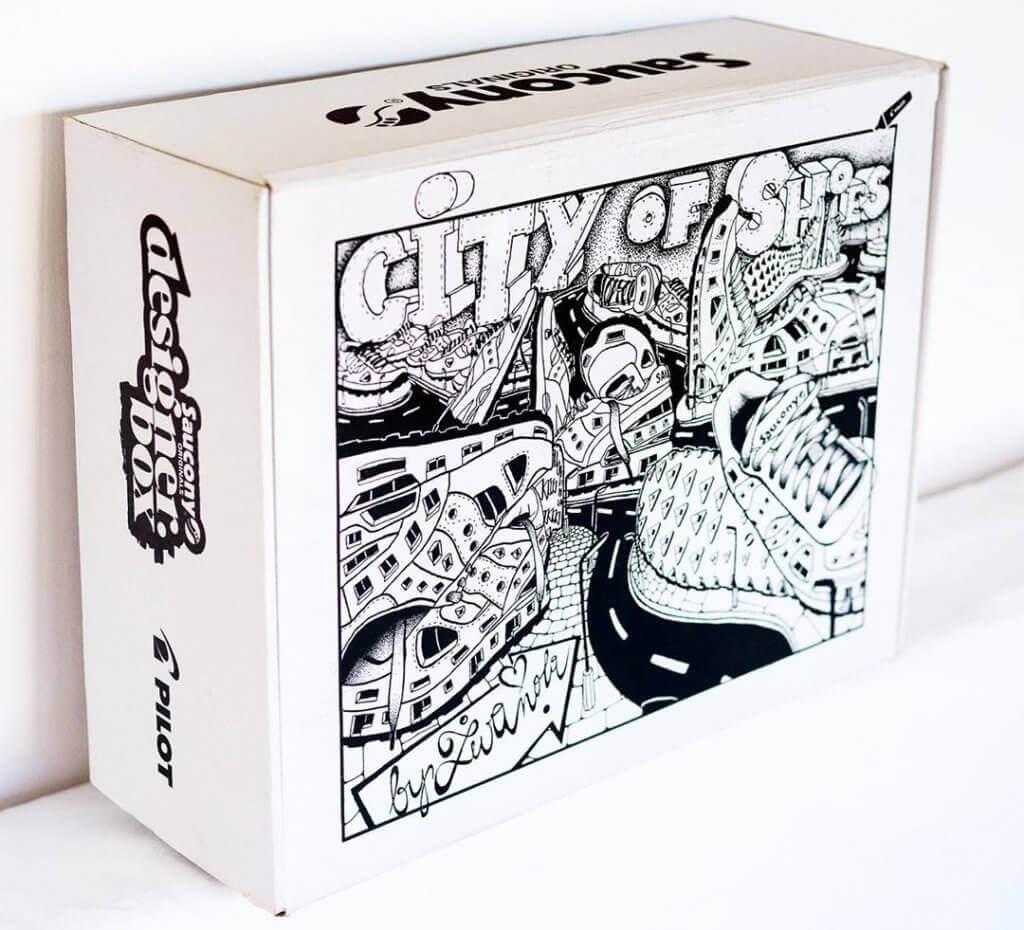 Saucony personalizovaná krabice