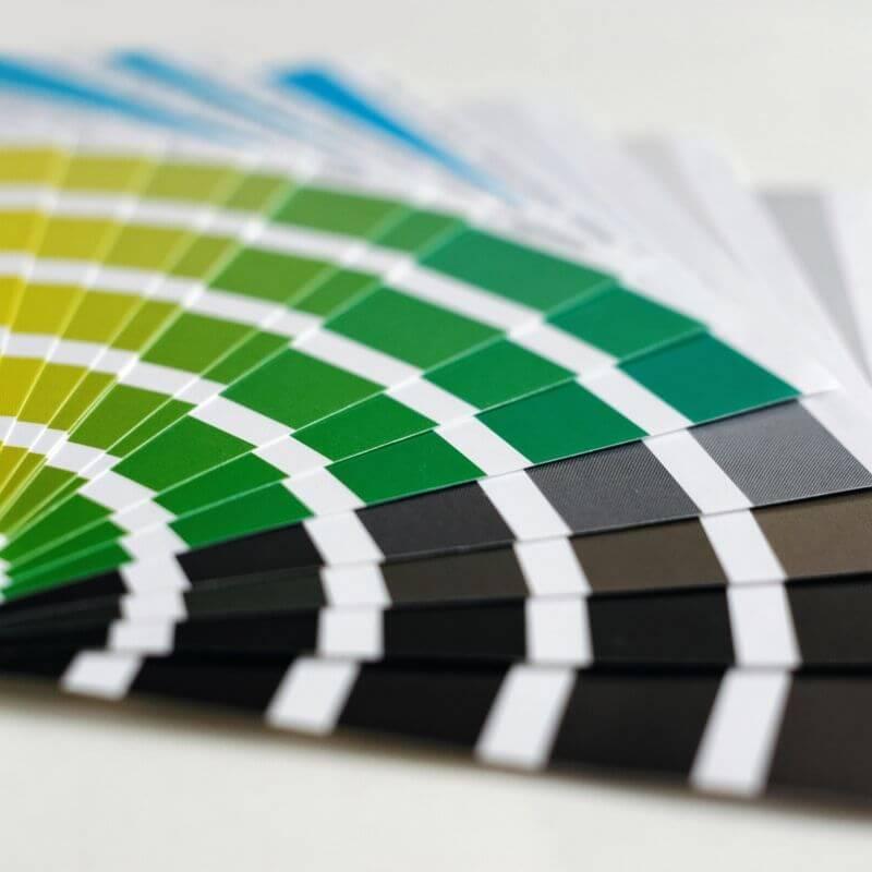 diferentes paletas de colores utilizadas para diseñar packaging