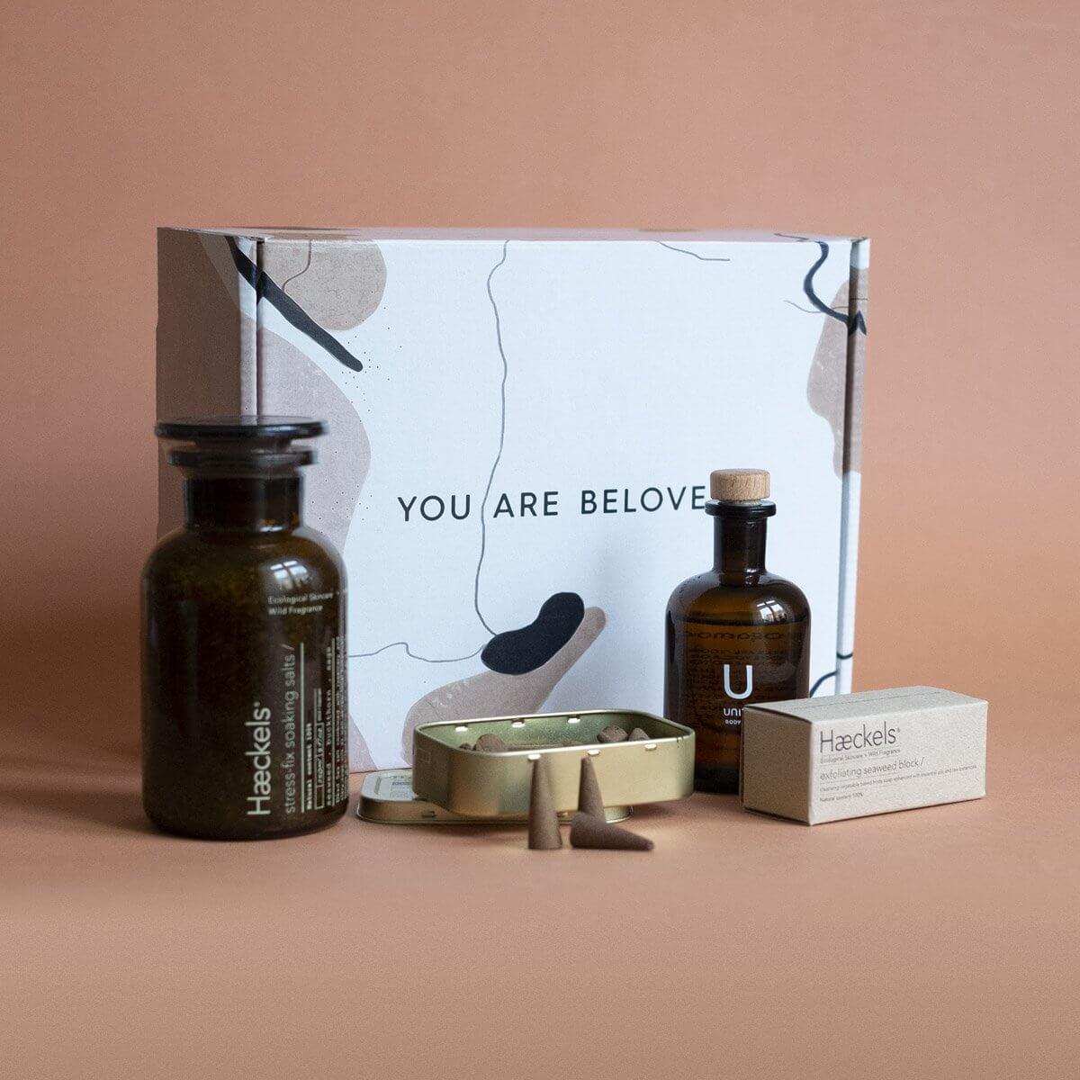 Flacons et packaging de Noël de Beloved Shop