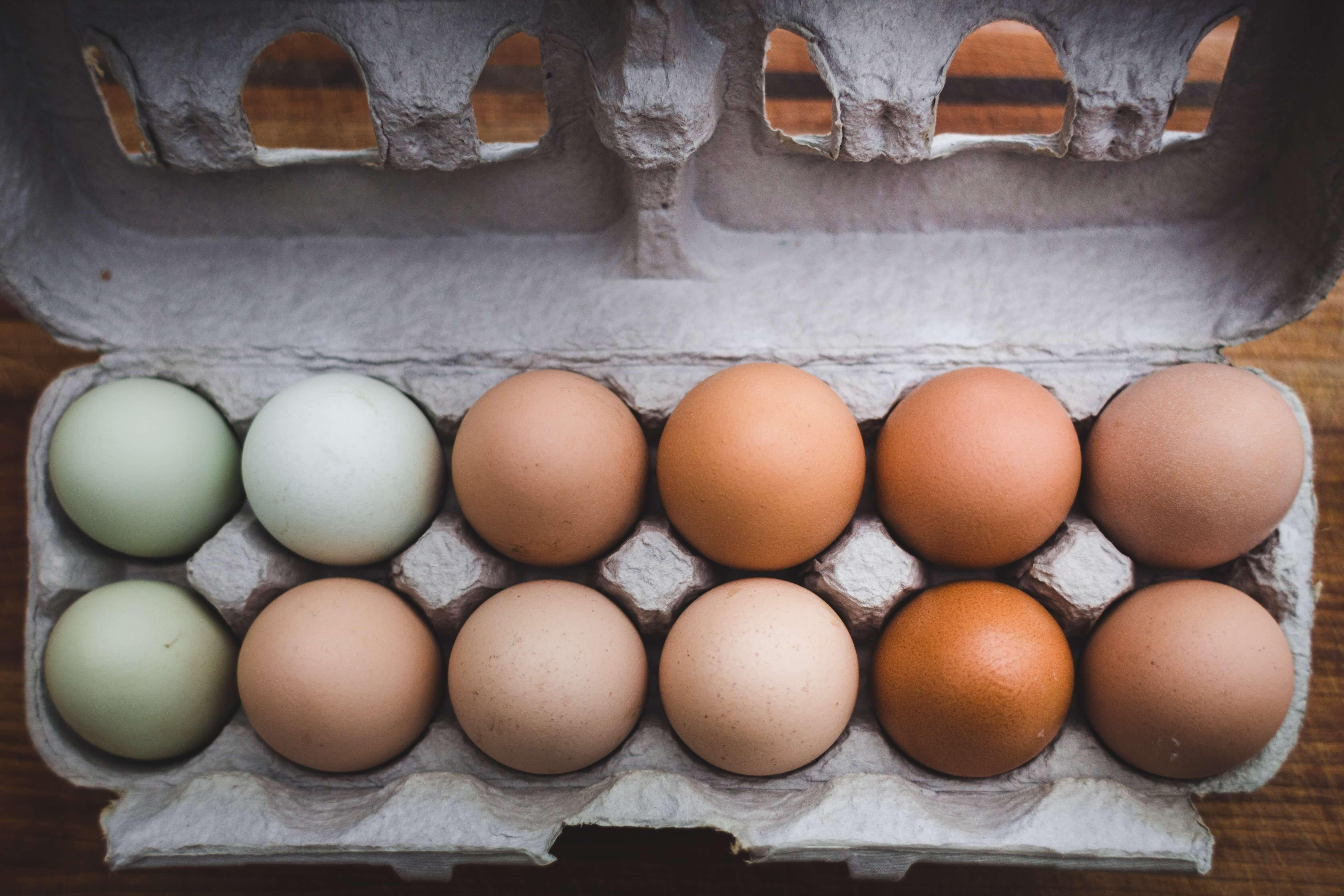 Pacco uova design alimentare